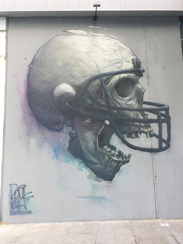 骸骨の壁画