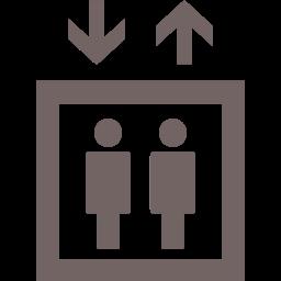 エレベーターのアイコンの画像
