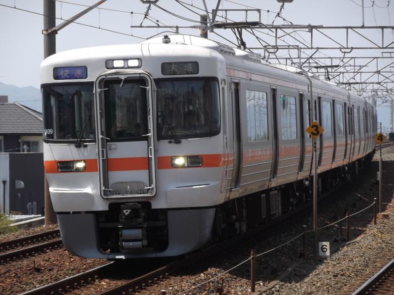 313系5000番台 快速 大垣行き(Y109・クモハ313-5009)