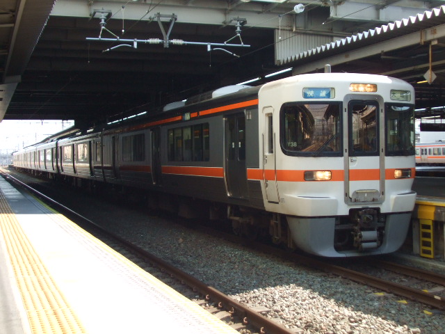 313系300番台 快速 大垣行き(Y38・クハ312-308)