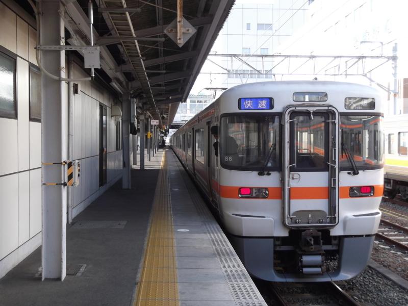 313系1100番台 快速 大垣行き(B6・クモハ313-1110)