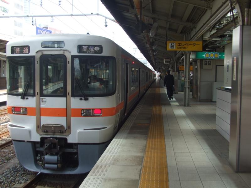 313系1600番台 普通 高蔵寺行き(B107・クハ312-406)
