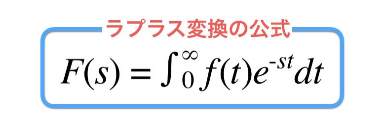 ラプラス変換の公式