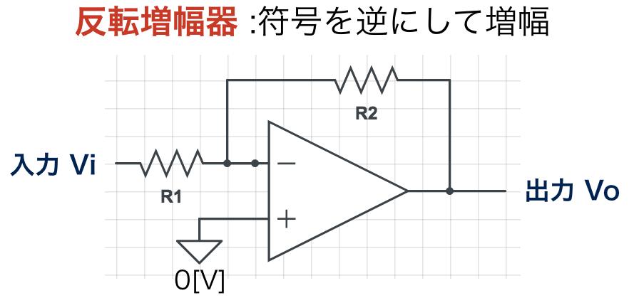 反転増幅器の回路図