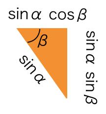 右側の三角形も同様に各辺の長さを図示