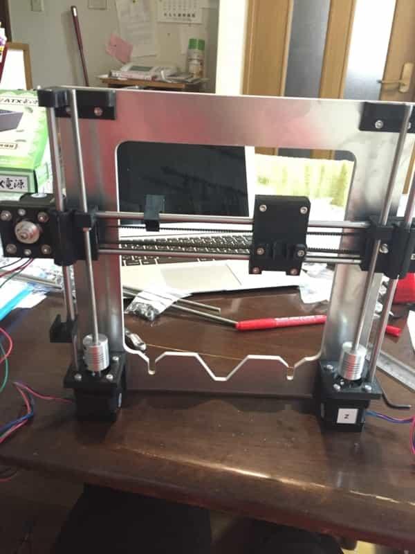 3DプリンタのX軸とZ軸の組み合わせ