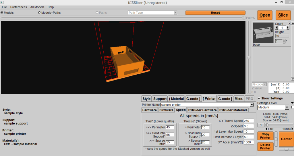 マイコンケースの3Dモデル