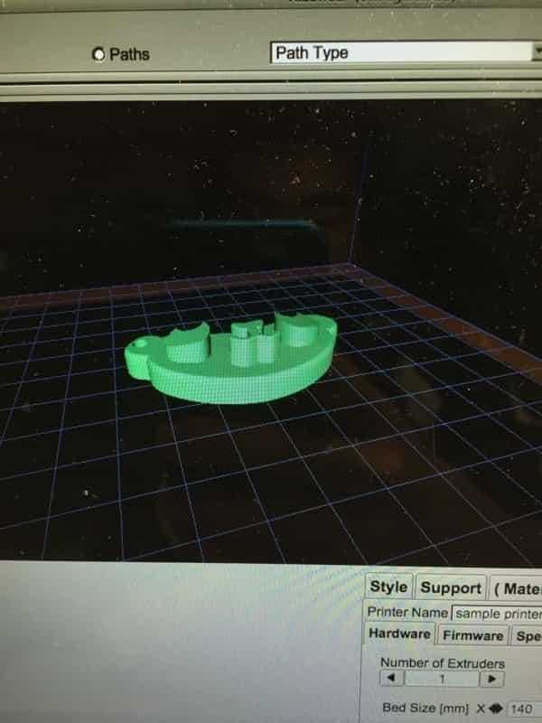 パンダのキーホルダーの3Dモデル