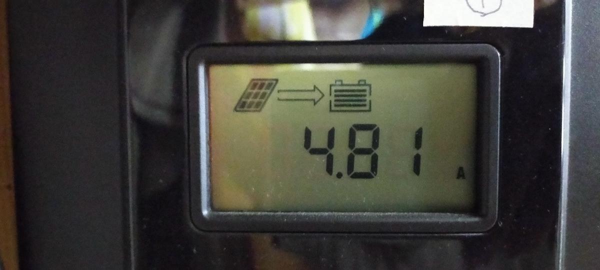 RENOGY MPPTチャージコントローラー4.81A発電