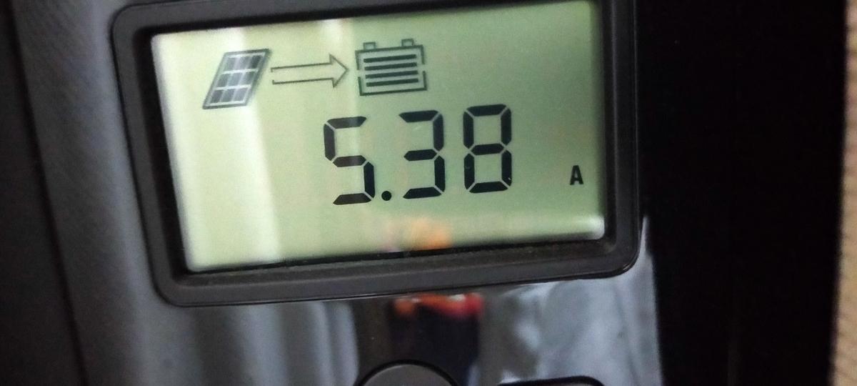 RENOGY MPPTチャージコントローラー 5.38A発電