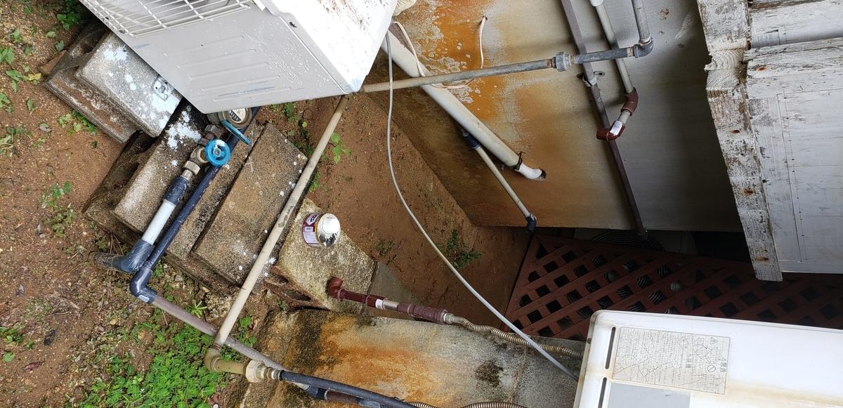 水道管を切ってスッキリした状況にする