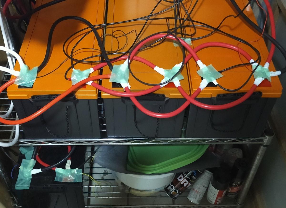 自然災害時の停電で電気を使うため蓄電に必要なバッテリー