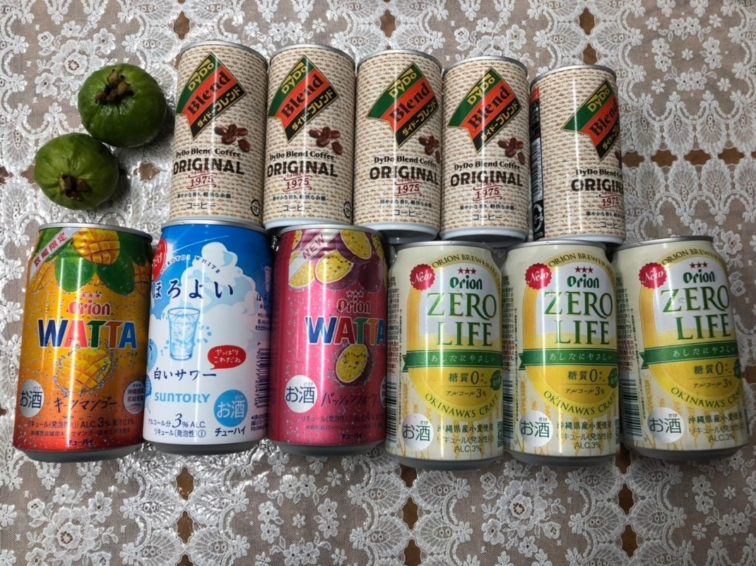 台風中に飲むジュース類