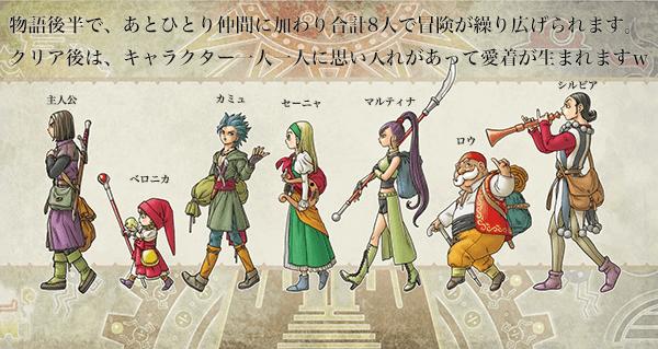 ドラゴンクエスト11のキャラクター画像
