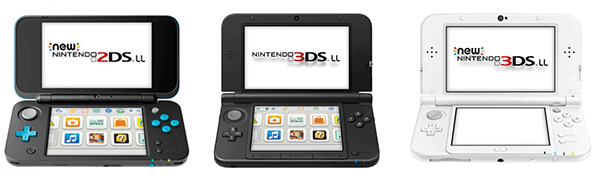 NEW 2DS LLと3DS LLの比較