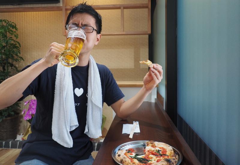 本格ピザと生ビールがウリの……銭湯? 風呂あがりの楽園で昼間から昇天してみた