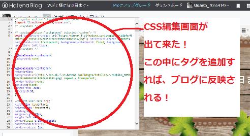 CSS編集画面への行き方5