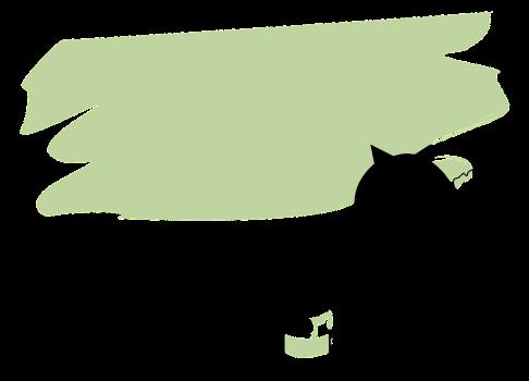 猫イラストヘッダーペンキ
