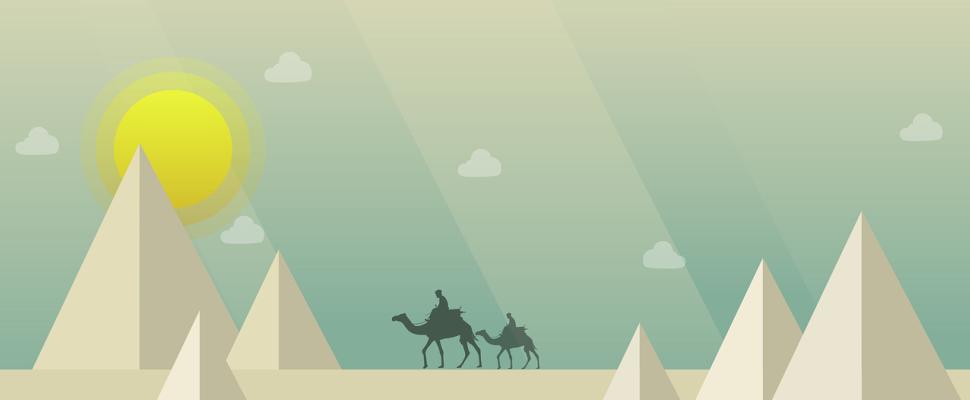 幻想的な砂漠ヘッダー