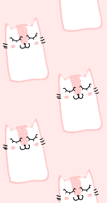 かわいい猫イラスト(ピンク)