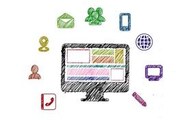 多様なウェブデザインのイメージ