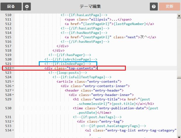 HTML編集の場所