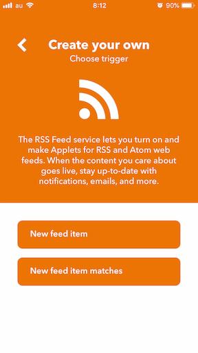 RSSを選択