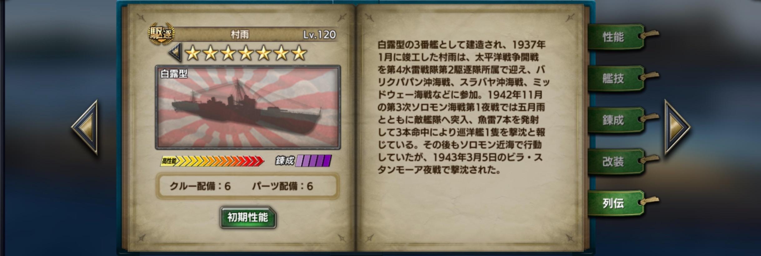 Murasame-history