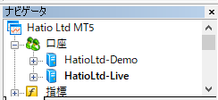 CryptoGTのMT5はDemo口座とLive口座を共存させて、切り替えながら使っていた