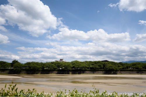 ライカQで川と空を撮影。