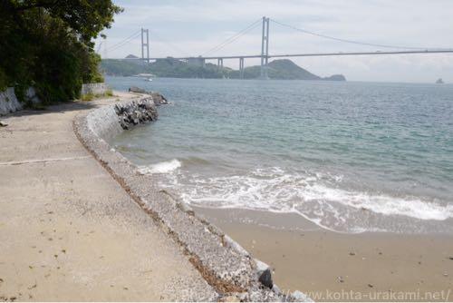 しまなみ海道と砂浜