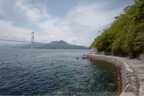 しまなみ海道と遊歩道