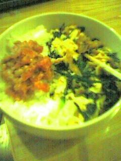 マグロ納豆&ニラ豚卵炒め
