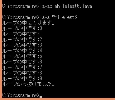 WhileTest6.java実行結果