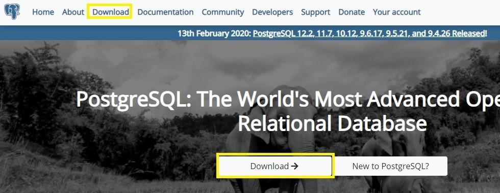 PostgreSQLトップページ