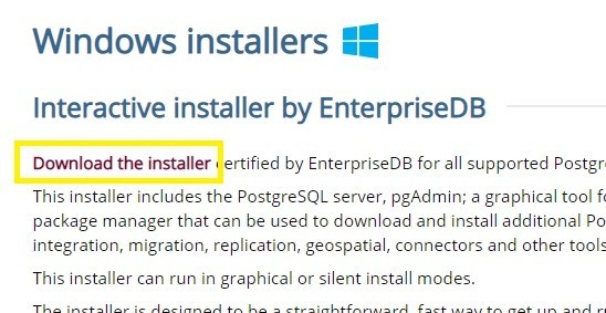 Download the installer