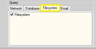「File system」タブ