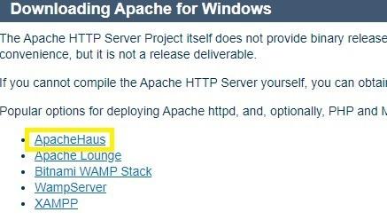 「ApacheHaus」リンク