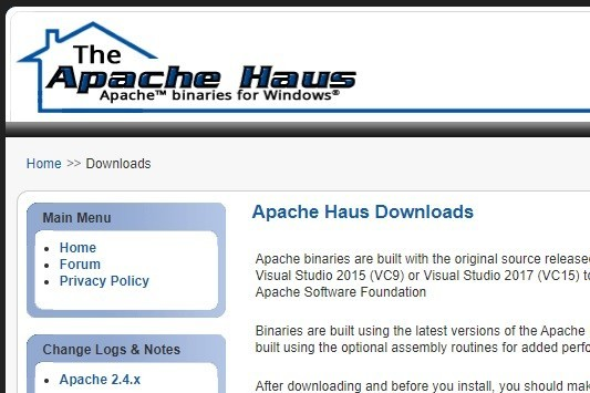 「ApacheHaus」トップページ
