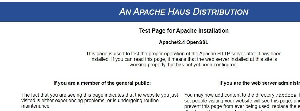 Apache起動確認