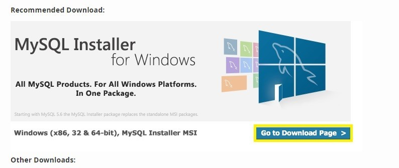 Windows (x86, 32 & 64-bit), MySQL Installer MSI