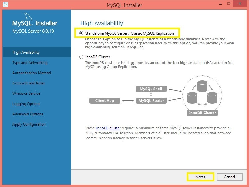 「Standalone MySQL Server/Classic MySQL Replication」