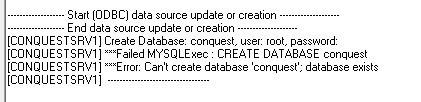 データベース作成時のエラー