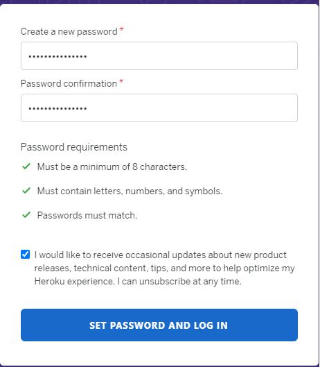 新しいパスワードを入力