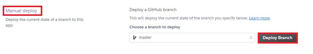 Deploy Branch