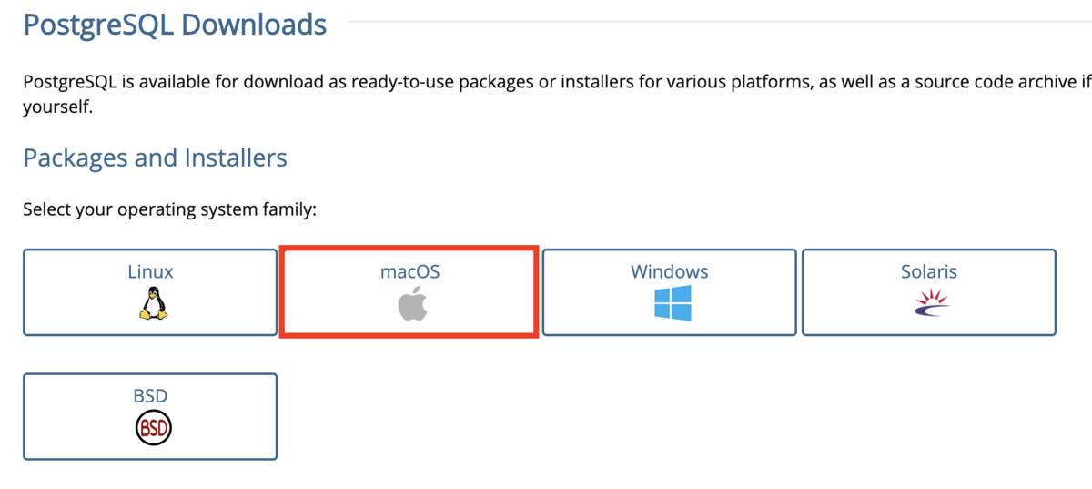 MacOSをクリック