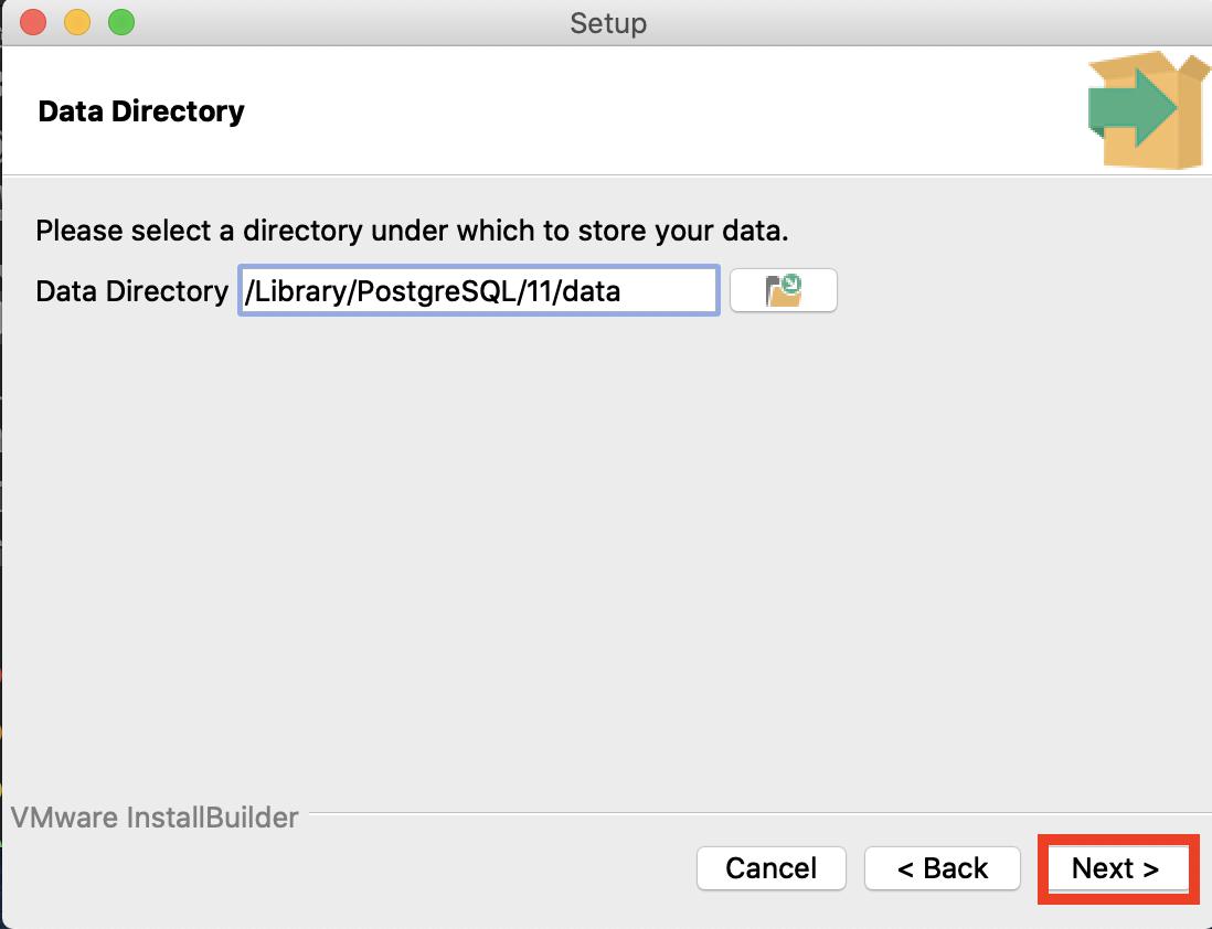 データ格納ディレクトリ選択