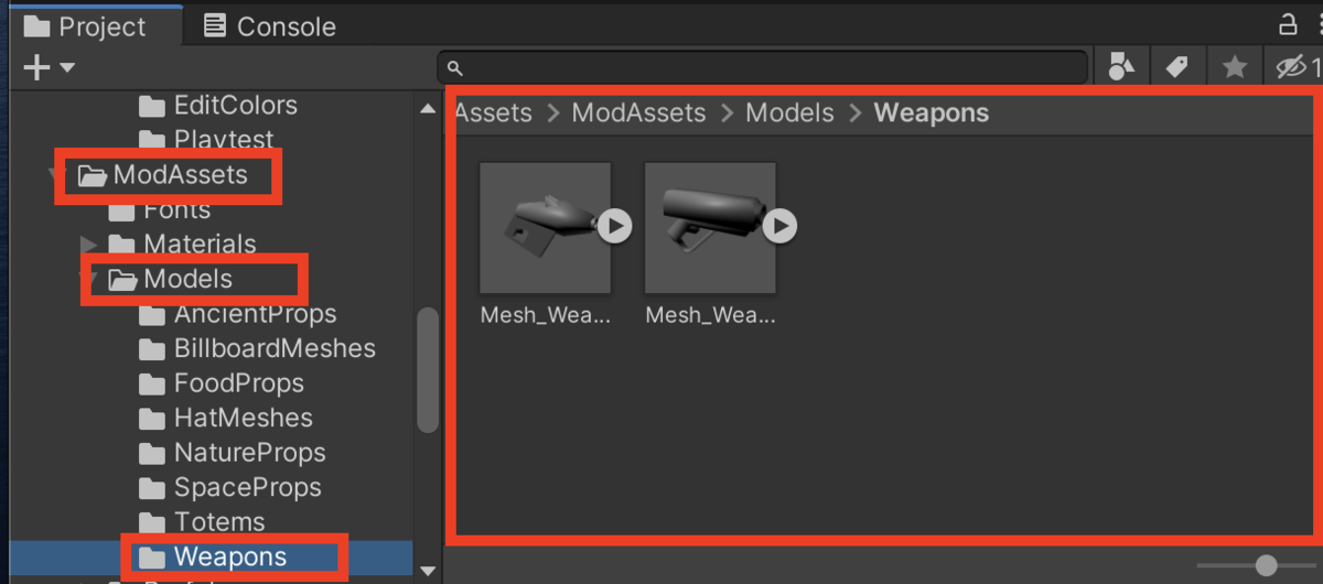 Assets > ModAssets > Models > Weapons
