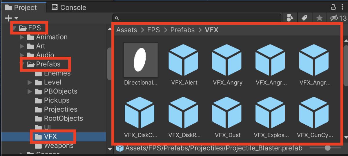 Assets > FPS > Prefabs > VFX