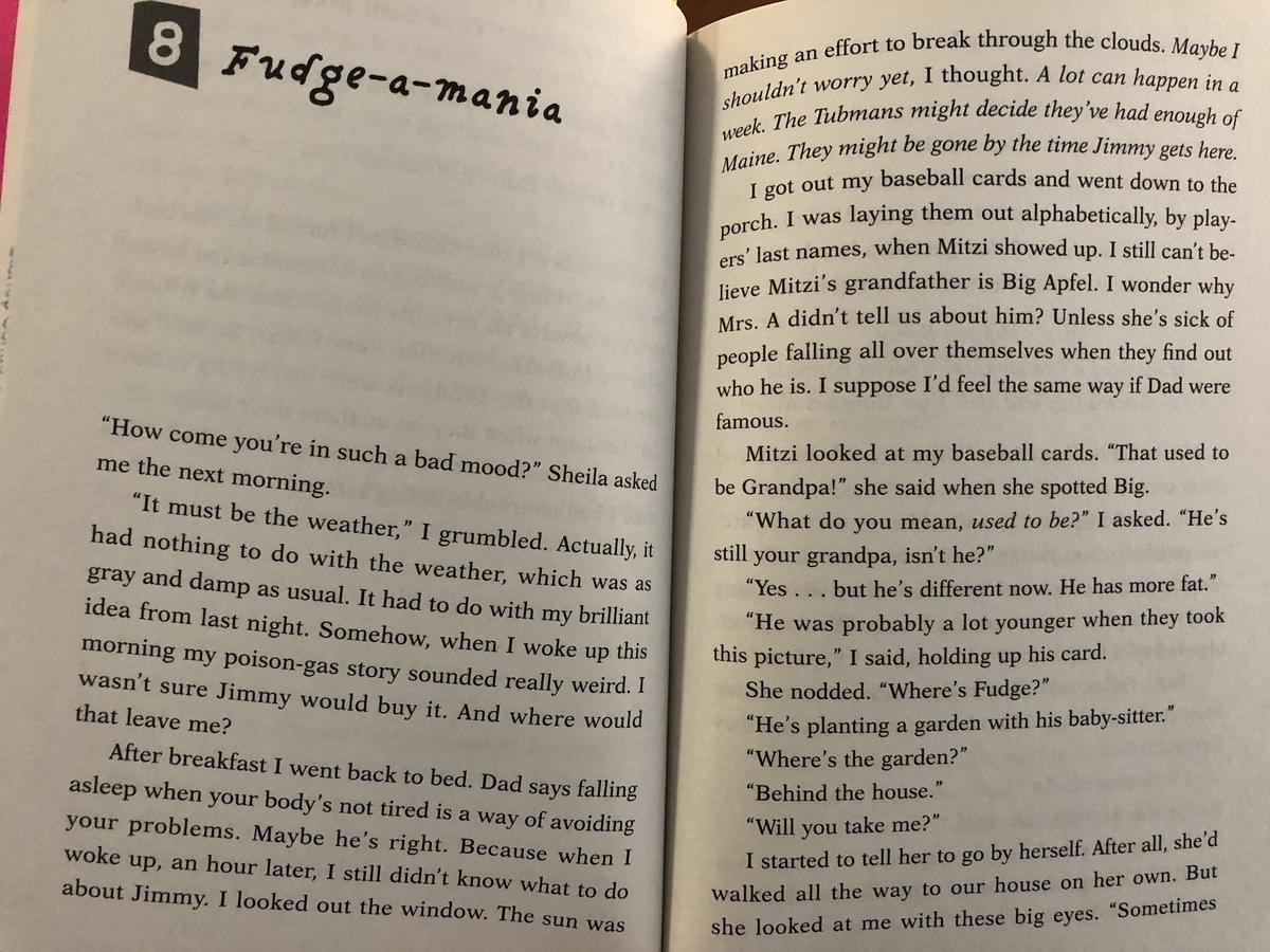 英語の本の内容
